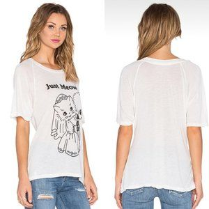 Wildfox Just Meowied Cat Bridal Graphic Tee
